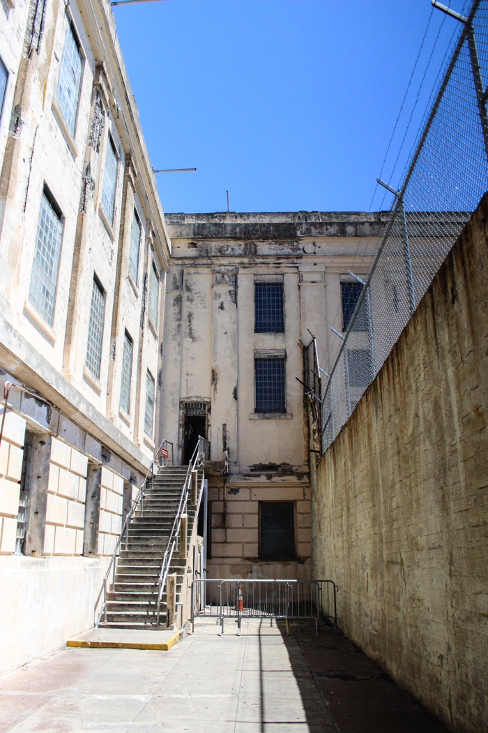 old alley at alcatraz