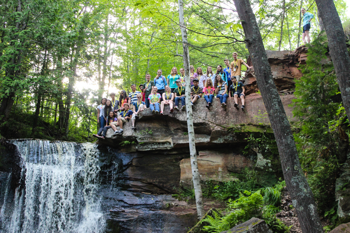 hiking hungarian falls group