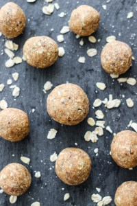 Peanut Butter Oatmeal Energy Balls #Oatober {giveaway!}