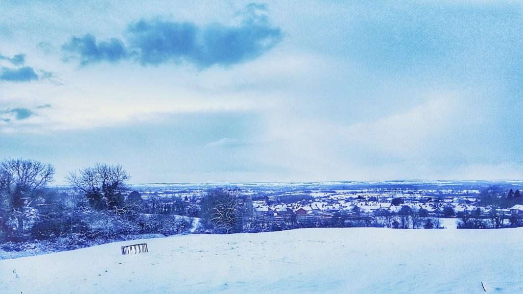 running in snow enjoy the views