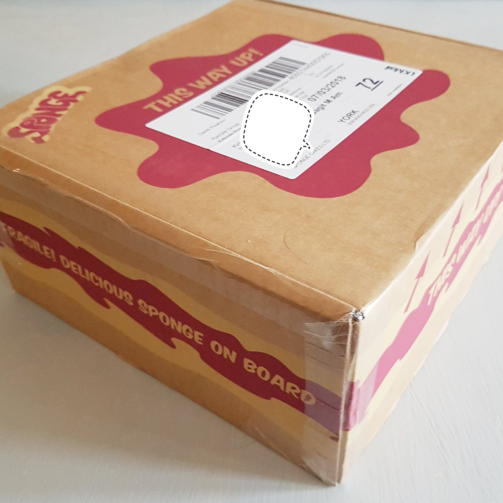 sponge cake box