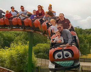 Lightwater Valley Theme Park Ladybird mini roller coaster