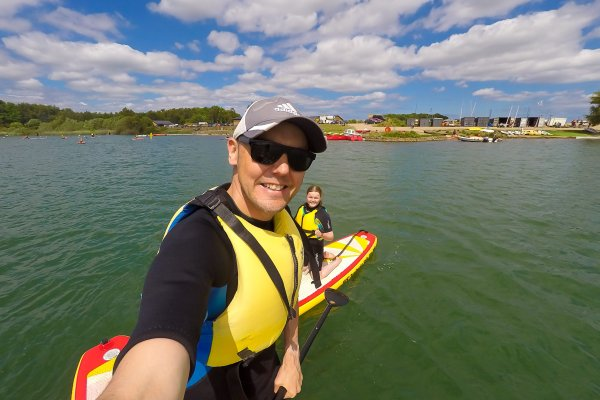 Paddle boarding at North Yorkshire Water Park | The Yorkshire Dad of 4