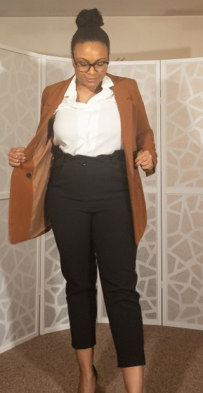 cognac blazer suit separate