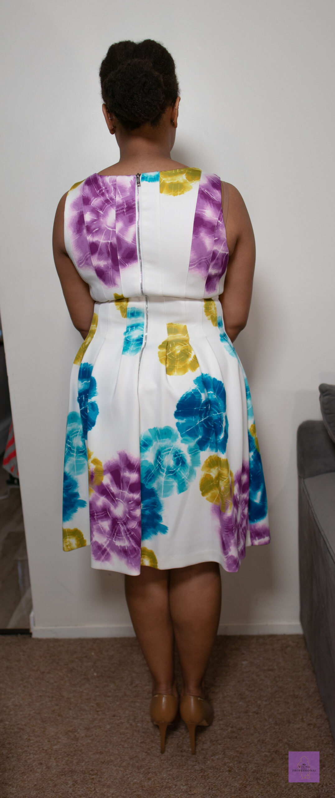 summer workwear floral dress 4