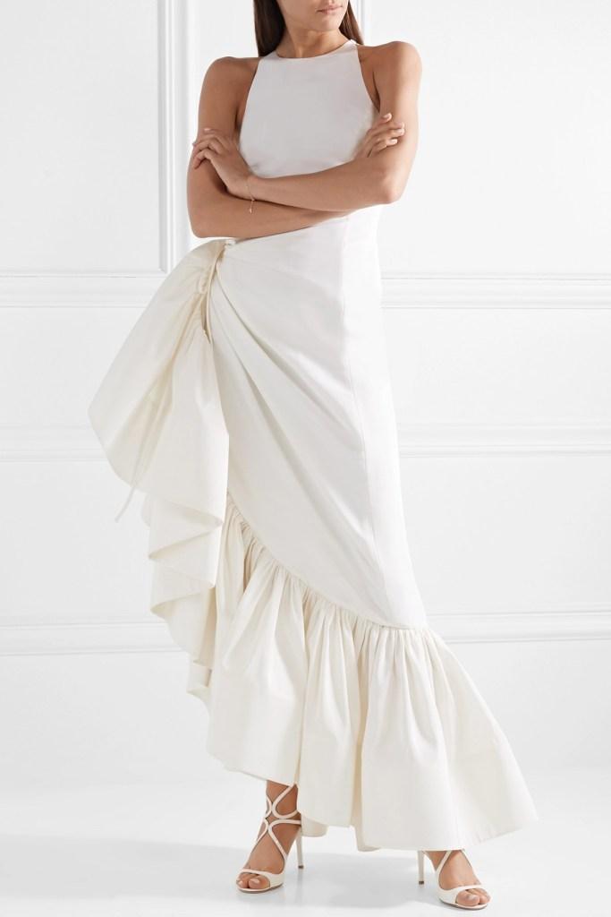 rosie assoulin white wedding dress fashion style bridal designer runway