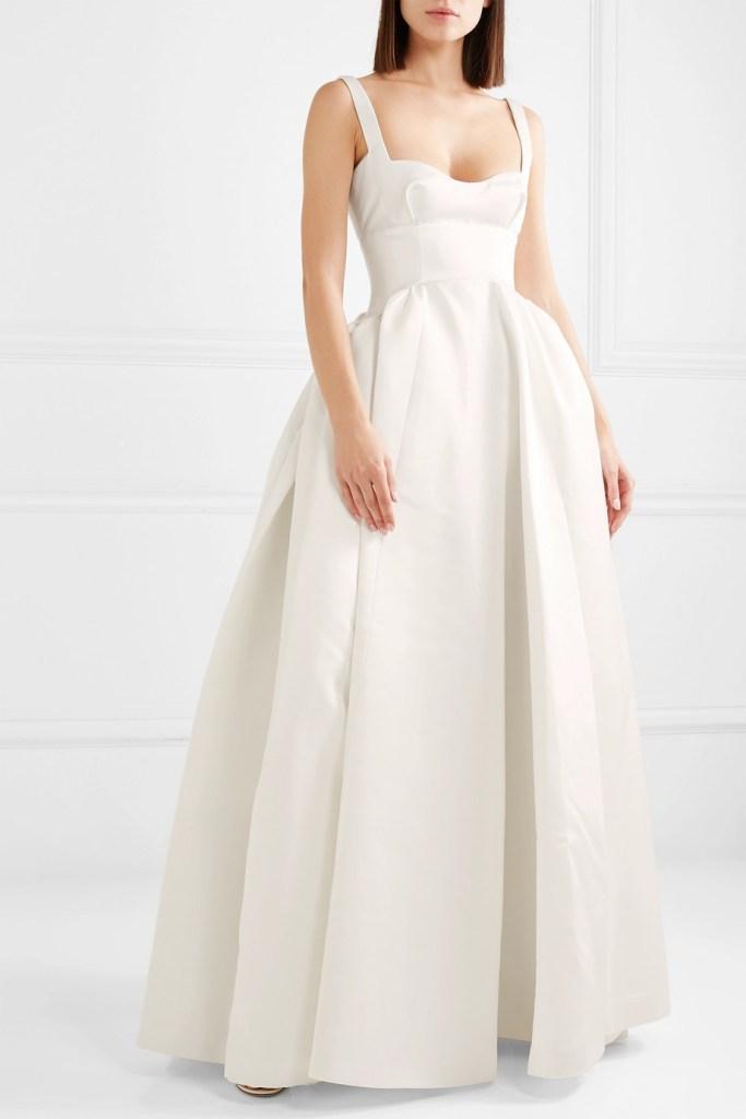 Emilia Wickstead white wedding dress fashion style bridal designer runway