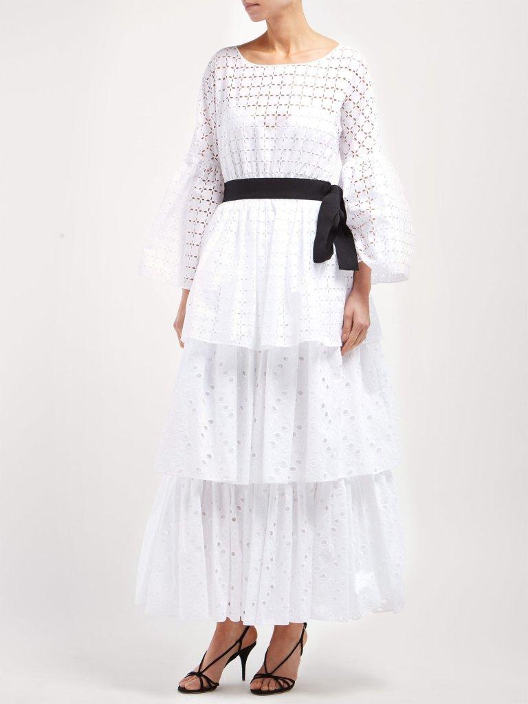 rochas white wedding dress fashion style bridal designer runway