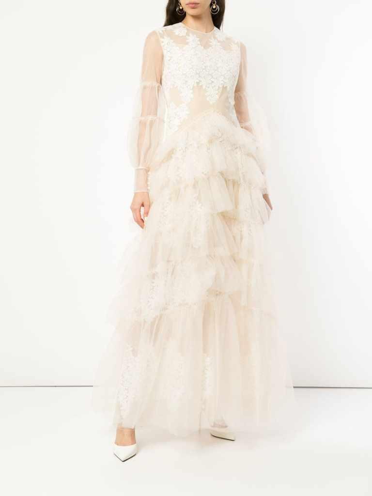 huishan zhang white wedding dress fashion style bridal designer runway