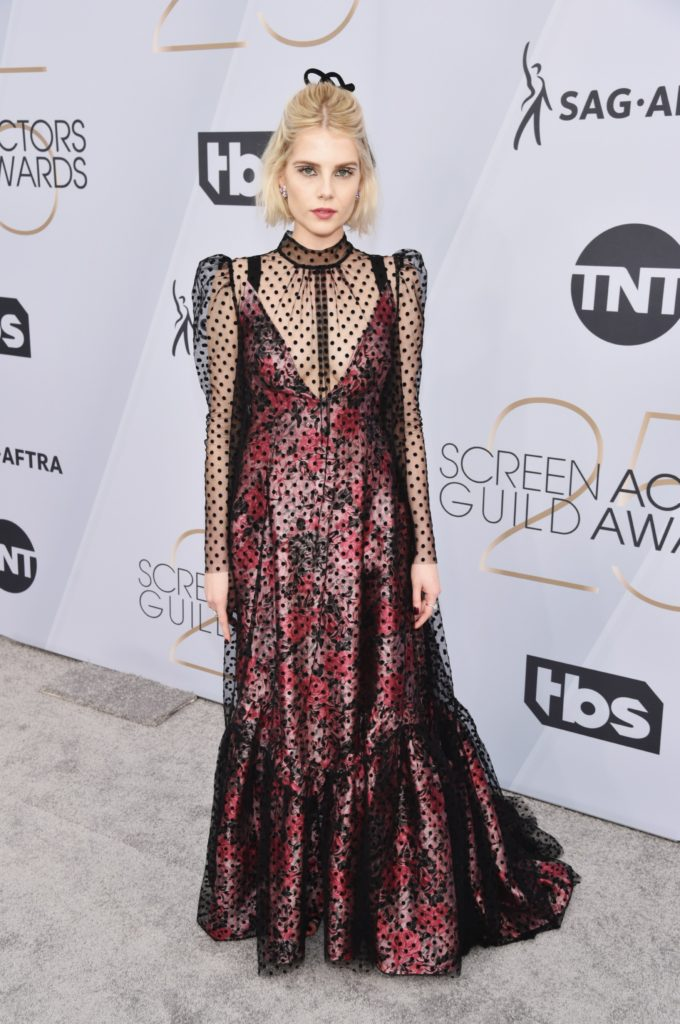 lucy boynton in erdem sag awards 2019 fashion style red carpet celebrities