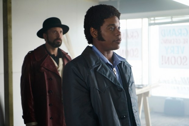 FARGO -- ÒBefore The LawÓ -- Episode 202 (Airs October 19, 10:00 pm e/p) Pictured: (l-r) Brad Mann as Gale Kitchen, Bokeem Woodbine as Mike Milligan. CR: Chris Large/FX