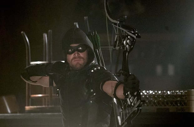 """Arrow -- """"The Candidate"""" -- Image AR402A_0219b -- Pictured: Stephen Amell as The Arrow -- Photo: Katie Yu /The CW -- © 2015 The CW Network, LLC. All Rights Reserved."""