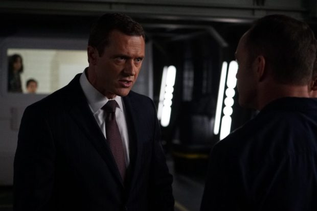 "MARVEL'S AGENTS OF S.H.I.E.L.D. - ""The Good Samaritan"" - Robbie's shocking story on how he became Ghost Rider is finally discovered as Coulson and his team's lives hang in the balance, on ""Marvel's Agents of S.H.I.E.L.D.,"" TUESDAY, NOVEMBER 1 (10:00-11:00 p.m. EDT), on the ABC Television Network. (ABC/Eric McCandless) JASON O'MARA"