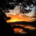 Columbia River Gorge Sunset.