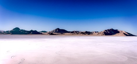 Bonneville Salt Flats Mountains.