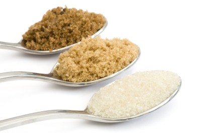 Golden granulated, light muscovado and dark muscovado sugar
