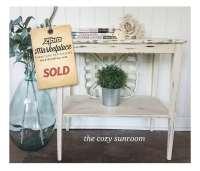 The Cozy Sunroom: Shabby Chic Side Table - The Zibra Blog