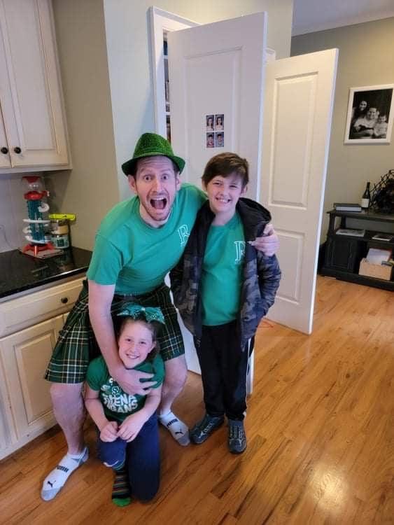 Matt Yankow Zwift Group Ride Sweeper with his kids