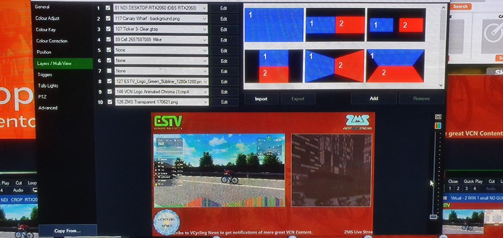 ZMS live stream uses multiple feeds during their broadcasts