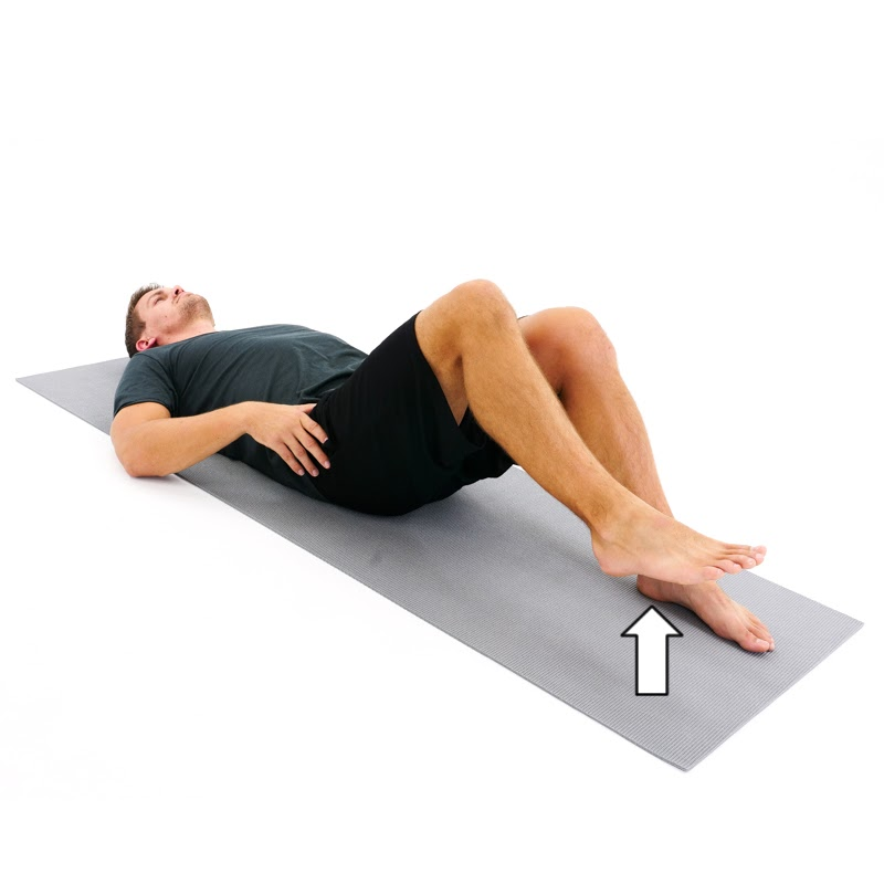 supine marching dead bug exercise