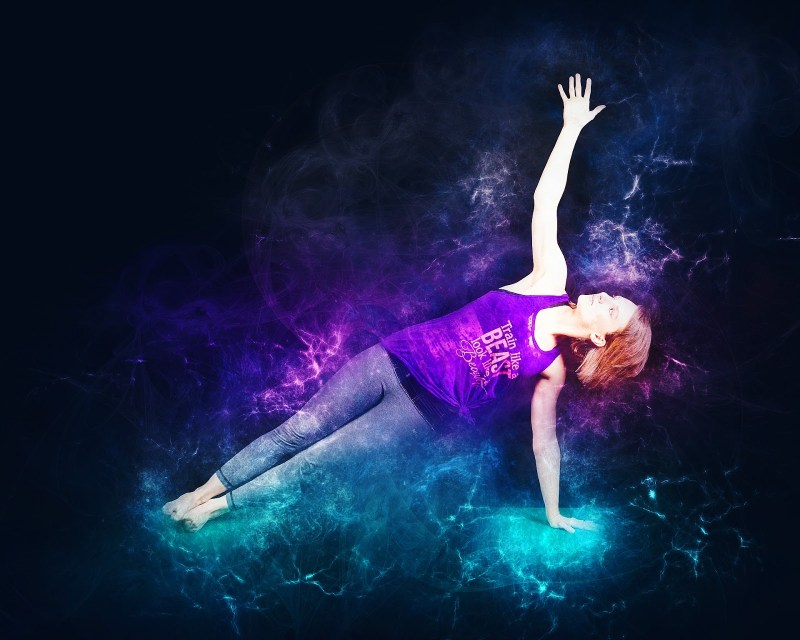 Side plank exercise artistic image