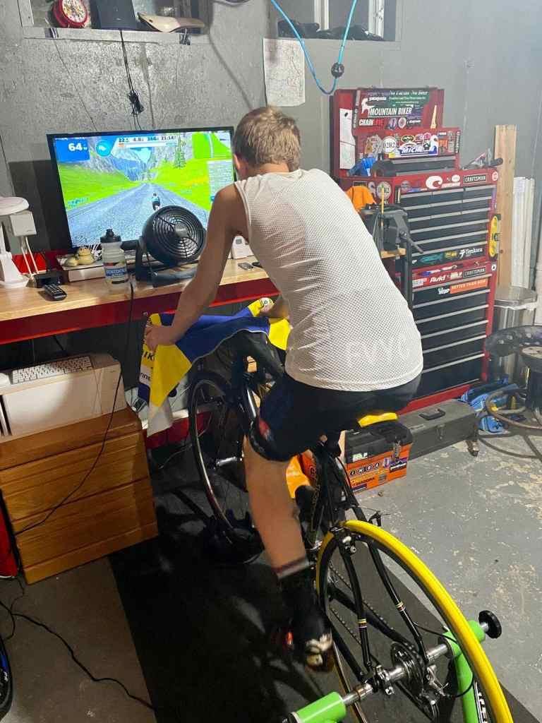junior bike racer virtual cycling