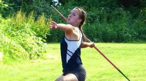Shepaug Valley junior Samantha Moravsky threw the javelin 121 feet, 6 inches to finish fifth at the State Open track meet Monday at Willow Brook Park in New Britain. With the toss Moravsky qualified for the New England championships. (Joe Palladino/RA)