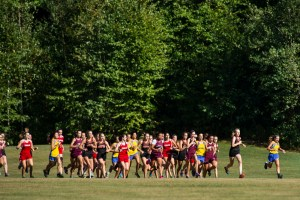 he start of the cross country 5k at Veteran's Memorial Park in Watertown. The Watertown team swept the girls' race with first, second and third places. Erin Covey Republican-American