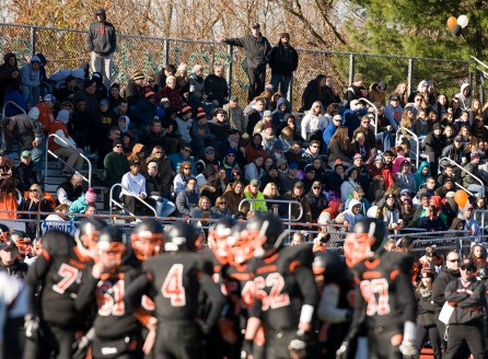 Watertown fans look on as their team defeated Torrington 68-27 during their Thanksgiving Day game Thursday at Watertown High School. Jim Shannon Republican-American