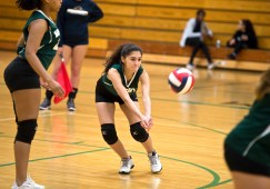 Wilby's LeeAnn Crespo (4) digs for the ball during their NVL volleyball game against Kennedy Tuesday at Wilby High School in Waterbury. Jim Shannon Republican American