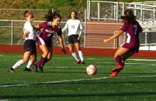 Naugatuck Woodland girls soccer - Haley Wolfanger (13) Angelina Oliveria (3) Noelle Jacobi (7)
