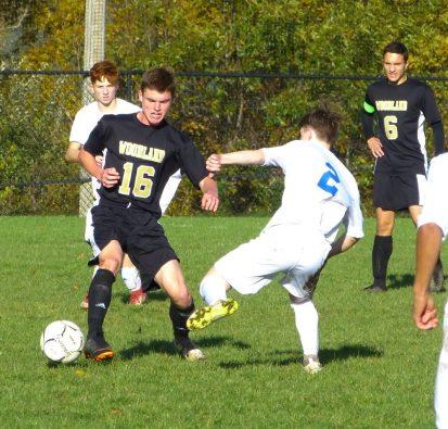 Seymour Woodland boys soccer - George Huges (16) Ethan Bryce (2)