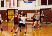 The Torrington Girls run what they been taught during the girls basketball team's first practice as they prepare for the upcoming 2018 season at Torrington High School in Torrington on Wednesday. Bill Shettle Republican-American