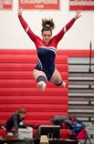 Nonnewaug's Annabelle Montero competes on the beam during the Pomperaug Invitational gymnastics meet held Saturday at Pomperaug High School. Jim Shannon Republican American