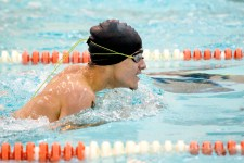 Wilby-Kaynor Justin Emlet competes in the 100m breaststroke during their meet with Watertown Tuesday at Watertown High School. Jim Shannon Republican American