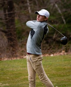 Torrington's Brayden Nietch tees off on 15th hole during their match with Watertown Thursday at Crestbrook Park in Watertown. Jim Shannon Republican American