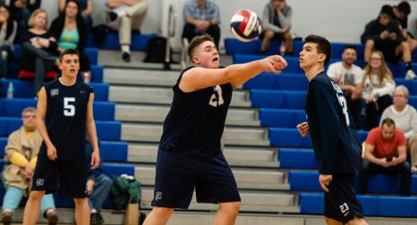 Oxford's Spencer Suttile (21) settles the ball as teammates Colin Speaker (5) and Tanner Soracco (23) look on during their match with Joel Barlow Monday at Oxford High School. Jim Shannon Republican American