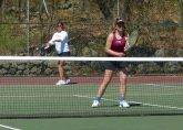 Sacred Heart girls tennis - Megan Arias Alivia Martino