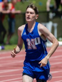 Nonnewaug's Eddie Nicholas ran away with the 3200m run during Berkshire League Track and Field Championships Saturday at Litchfield High School. Jim Shannon Republican American