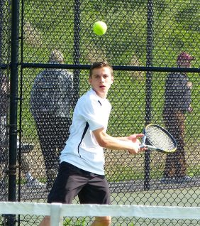 Woodland boys tennis - Devon Polletta 1