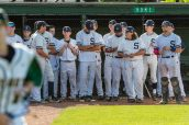 Shepaug Valley players look on during post game festivities after they got beat by Coventry 3-0 in the Class S Baseball Championship game between Coventry and Shepaug at Palmer Field in Middletown on Saturday. Bill Shettle Republican-American