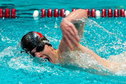 Pomperaug's Timothy Regan took first place in the 200 Yard Freestyle during their meet with Naugatuck Wednesday at Naugatuck High School. Jim Shannon Republican-American