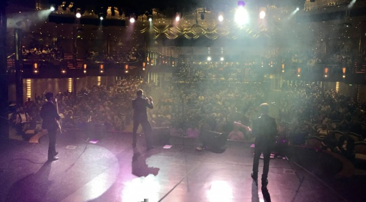 Rhapsody of the Seas, Theatre, Audience, Crowd, The Zoots, Band on Tour, Awesome band, 60s band, sixties band, Band for hire, Band in Wiltshire, Wiltshire wedding band, South west wedding band, Theatre show, Jamie Goddard Band,