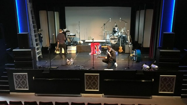 set up, Sounds of the 60s with The Zoots, Band from Wiltshire, Sixties theatre show, 1960s tribute band