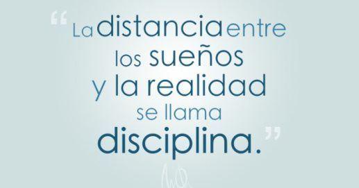 frases sobre disciplina