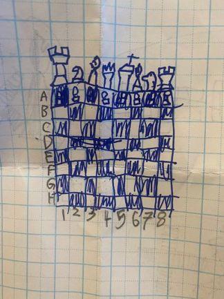 Dibujo de ajedrez por niños