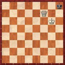 Rey ahogado en ajedrez posición de empate