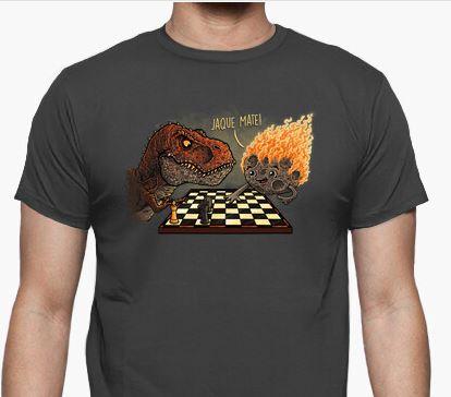 Camiseta meteorito contra dinosaurio Image