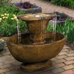 Alfresco Fountain With Plume Light (2)