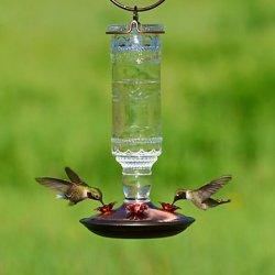Perky-Pet® Clear Antique Bottle Glass Hummingbird Feeder